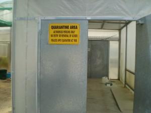 Quarantine house on separate site