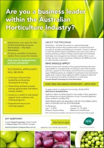 Horticulture the next generation