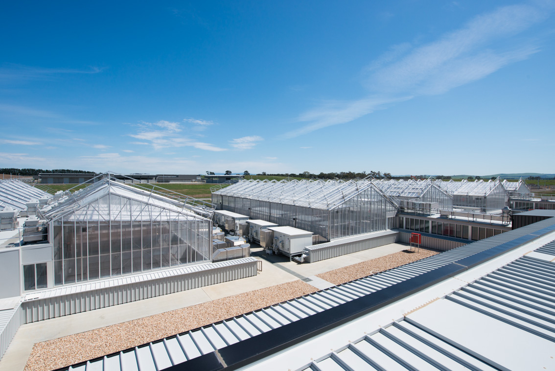 Greenhouse facilities at the new Post Entry Quarantine facility Mickleham Victoria.