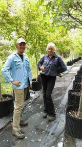 Court Campany and Ethyl Horton at Manor Nursery, SA.